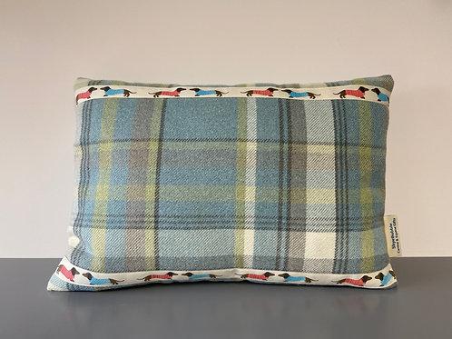 Dachshund Ribbon trim cushion great gift for dog lovers