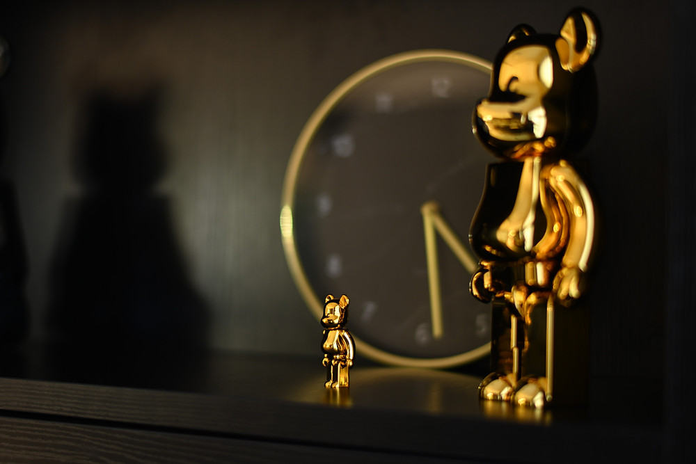 bearbrick toy sculpture mr shopper studio gold finish tampines greenweave singapore home renovation and styling project