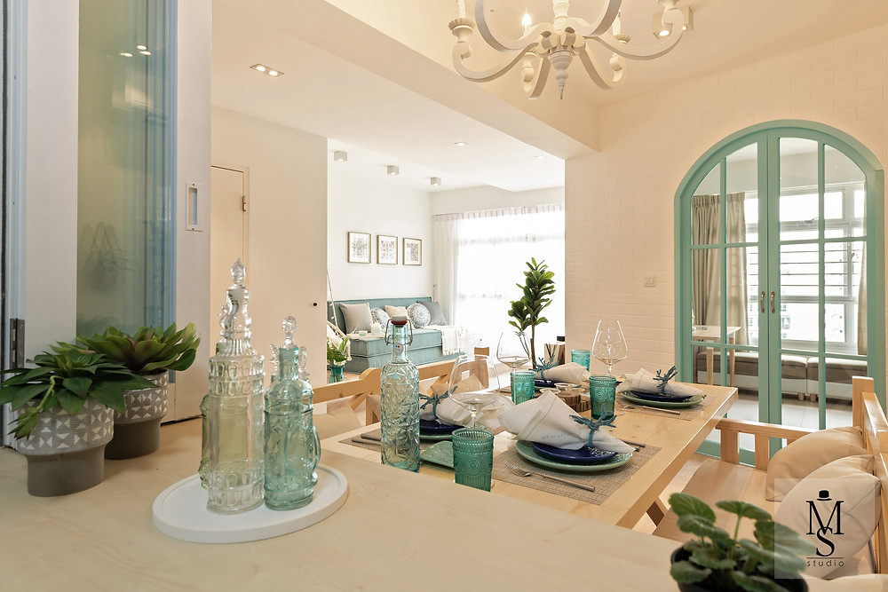 seafoam color Mediterranean inspiration mr shopper studio home decor styling