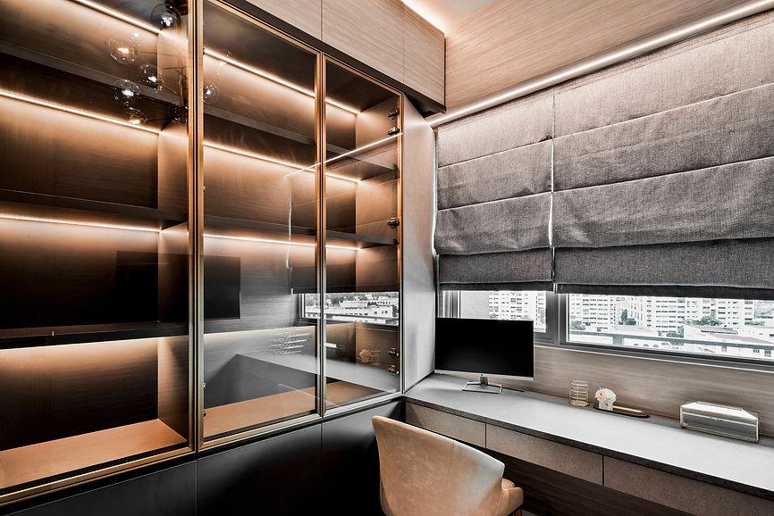 Stars of Kovan study room display cabinet led light