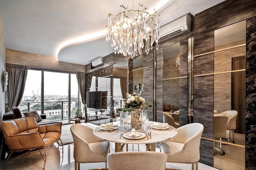 Stars of Kovan cove lighting organic shape crystal drop chandelier luxury living room