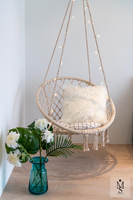 mr shopper studio mediterranean inspired interior design bayfront view singapore home decor jute hemp swing macrame rope