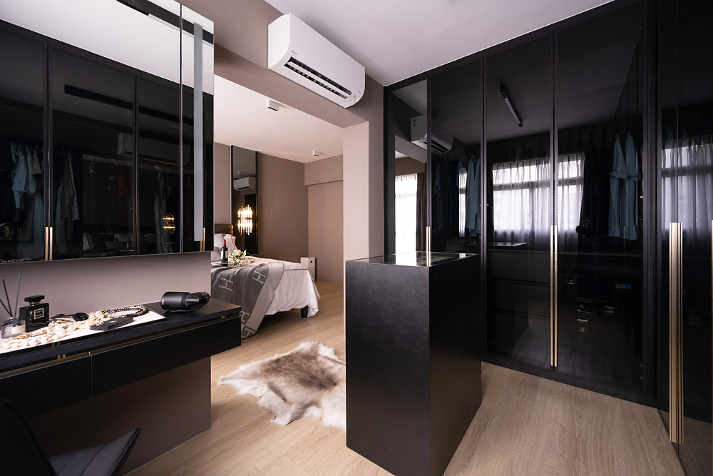 walk-in wardrobe tampines greenweave modern luxury interior design creative space ideas renovation guide mr shopper studio
