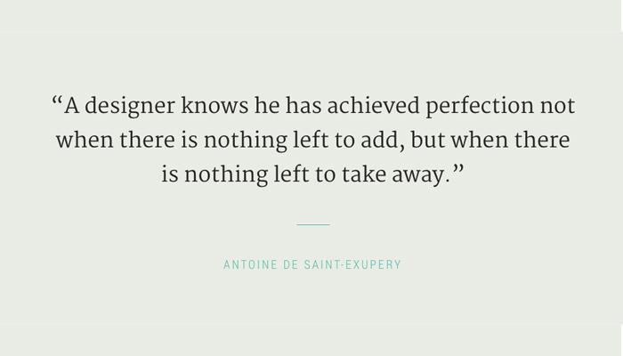 perfection nothing to take away