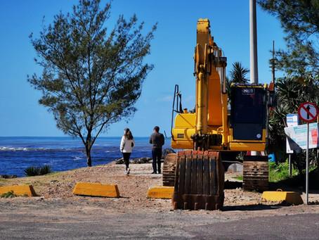Em Torres: reiniciam as obras de recuperação dos Molhes, para revitalização total do ponto turístico
