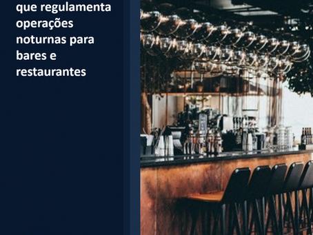 Porto Alegre publica Decreto que regulamenta operações noturnas para bares e restaurantes