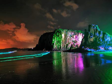 Torres: morros do Parque da Guarita recebem iluminação colorida para marcar seus 50 anos