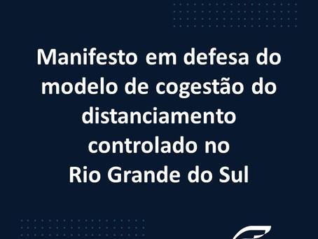 Manifesto em defesa do modelo de cogestão do distanciamento controlado no Rio Grande do Sul