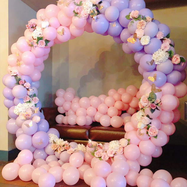 Pink & Purple balloon hoop