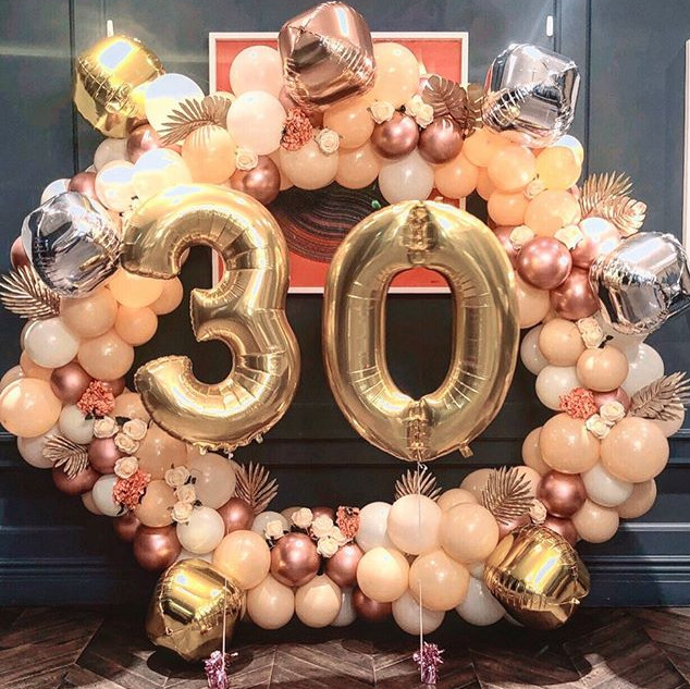 Balloon hoop with foil 30 balloons  Size 1.8m