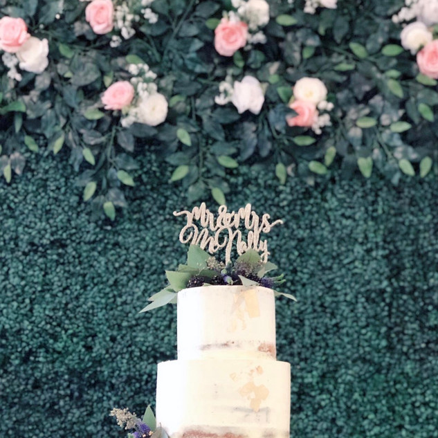 Close up - cake backdrop