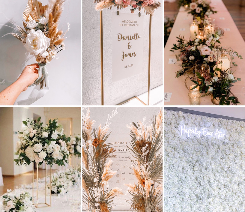 The Ultimate Package  What's included:  *Backdrop of choice  *Table centre pieces  *Floral top table runner *Welcome signage  *Table plan or order of the day  *3 bouquets & 3 buttonholes