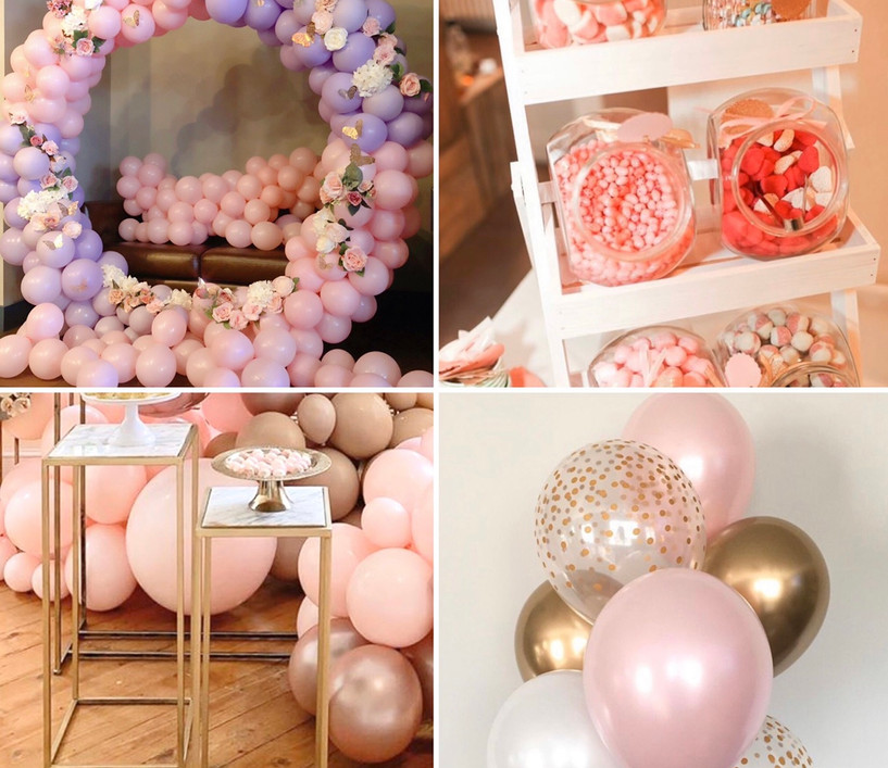 The Pink Party Package  What's included:  *Backdrop  *Balloon bundles *Sweet treats  *Cake tables
