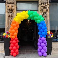 Rainbow double door arch