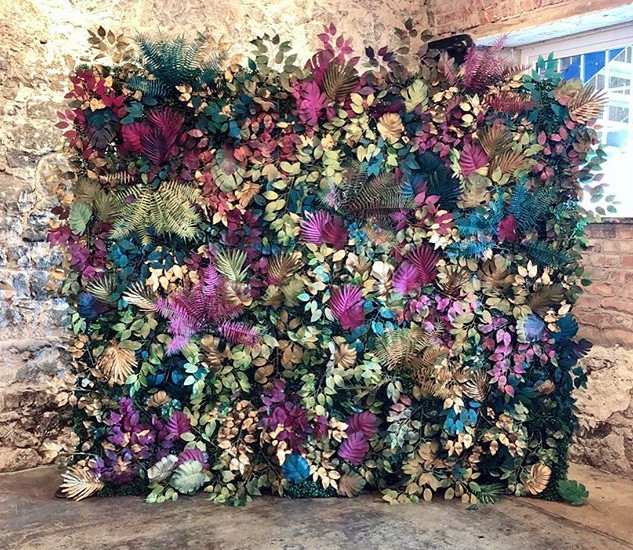 Colourful leafy backdrop   Size - 2.5m wide & 2.2m tall