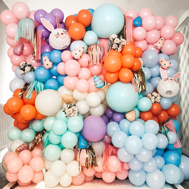 Easter inspired balloon wall