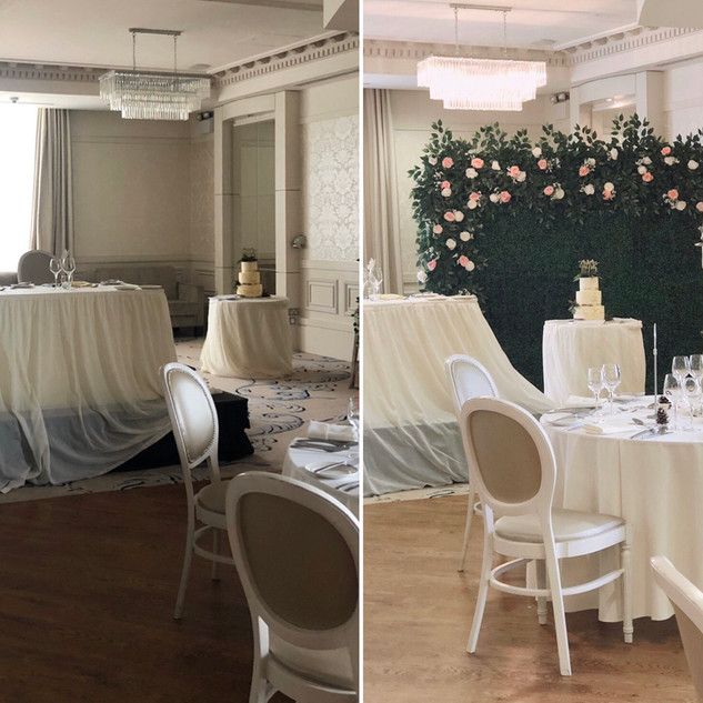 Before & After - Cake backdrop