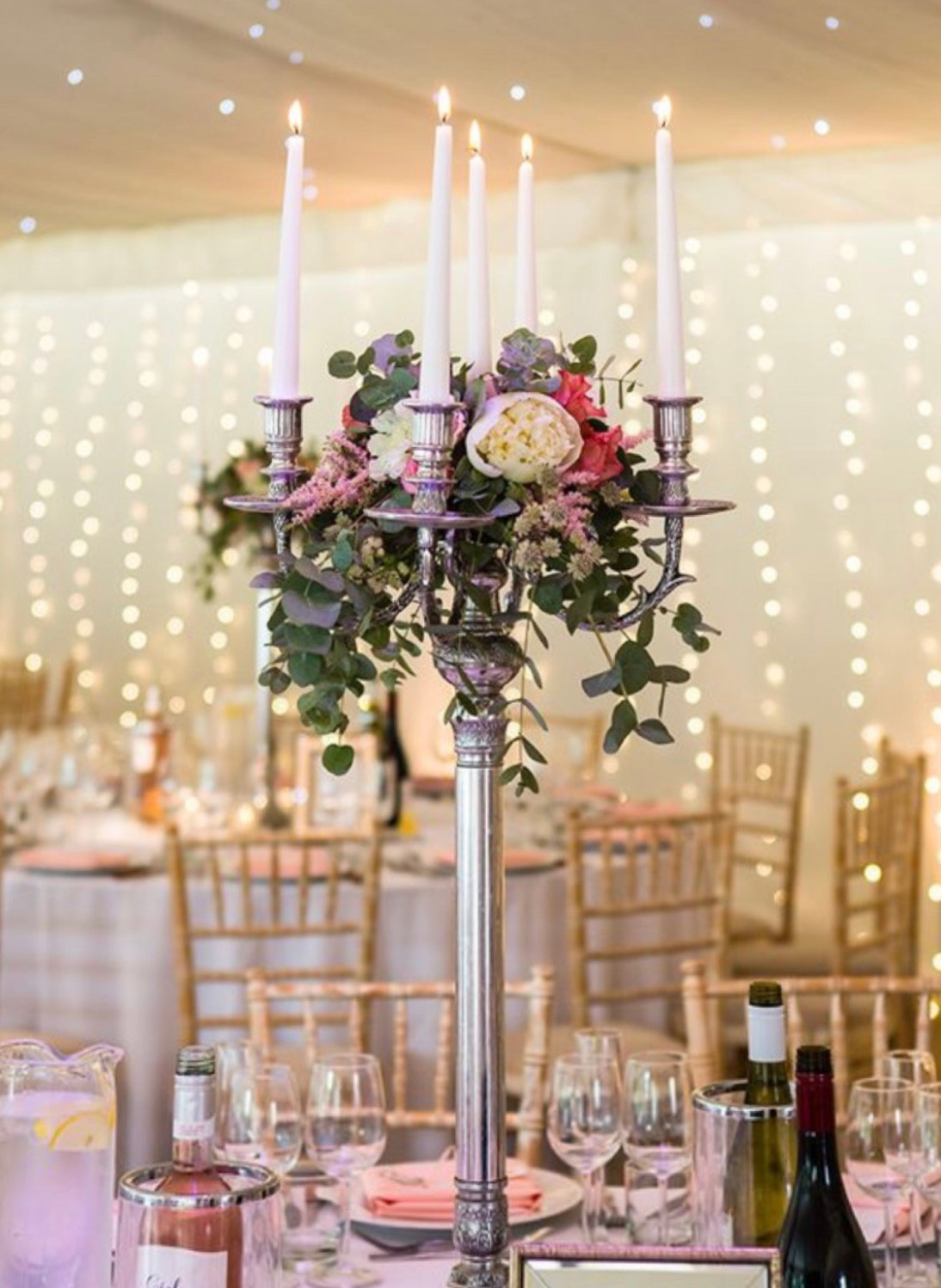Decorated candelabra