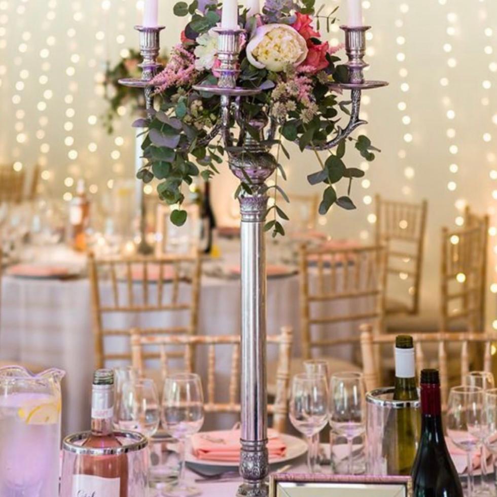 Decorated candelabra