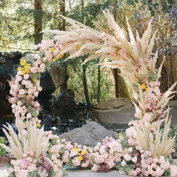 Bohemian style moongate arch   Size - 2.1m tall & 2.3m wide