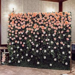 Waterfall flower wall   Size - 2.5m wide & 2.2m tall