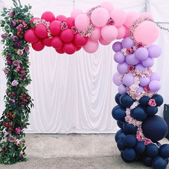 Balloon arch with florals   Size 2.2m tall & 2.5m wide