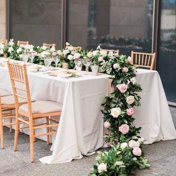 Over-flowing table runner