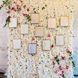 White Flower wall & table plan  Size - 2.5m wide & 2.2m tall