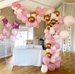 Pink balloon garland