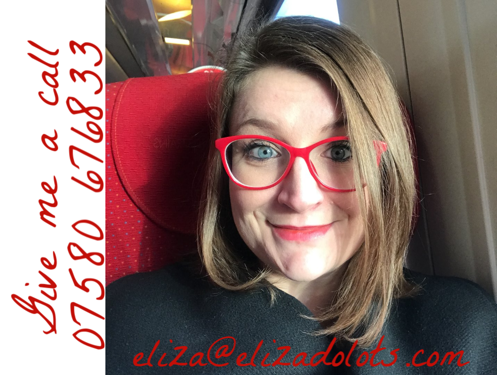 Eliza Adams with phone number and email address 07580676833 eliza@elizadolots.com