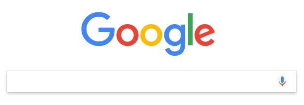 google logo and search bar