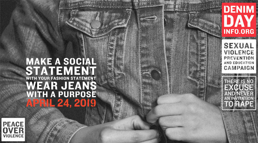 Denim Day sexual violence campaign image