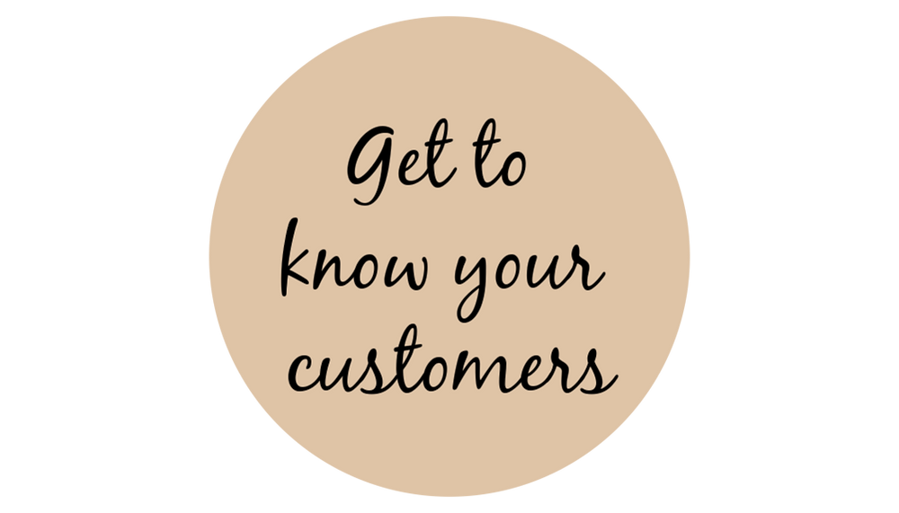 get to know your customers round logo