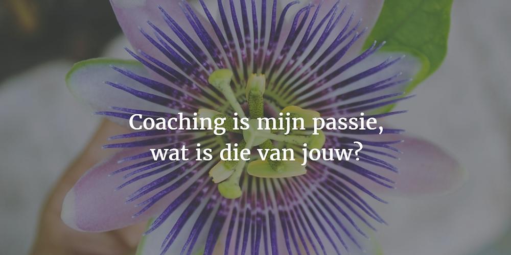Passiebloem met tekst - Menselijk Rendement Coaching