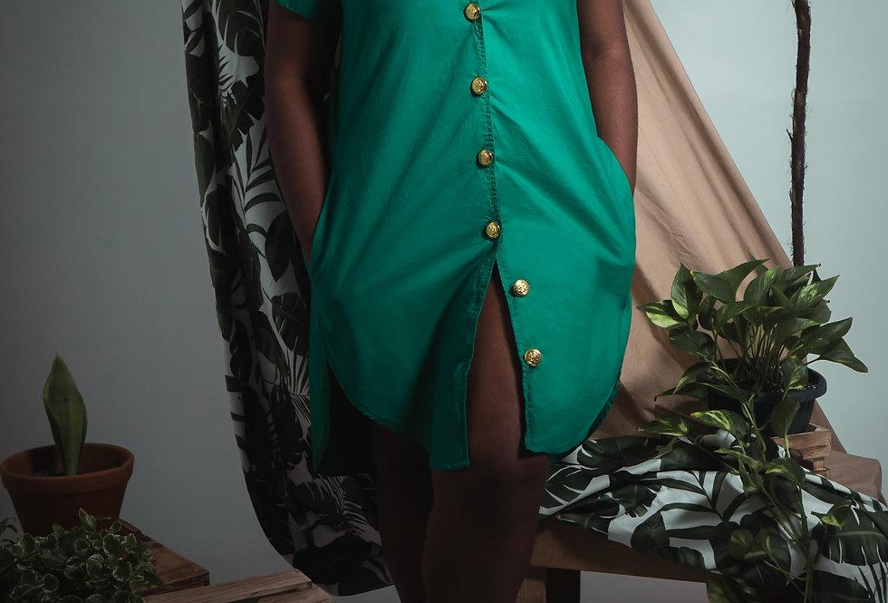 Isla Cotton Shirt Dress