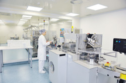 medical pills industry  factory and production indoor