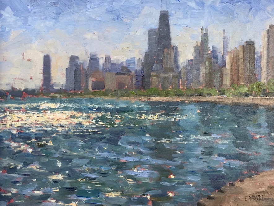 'Skyline from North Avenue'