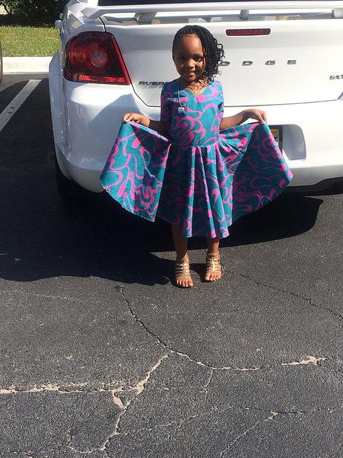 Lupita Flared African Style Dress