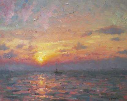 'Sailing at Sunset'