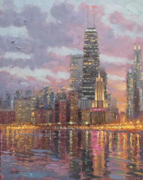 'Chicago Skyline at Dusk'