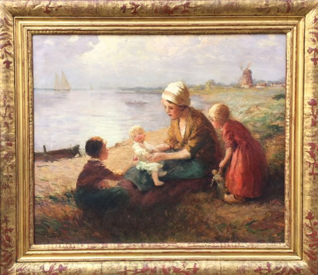 'Mother and Children on the Beach'