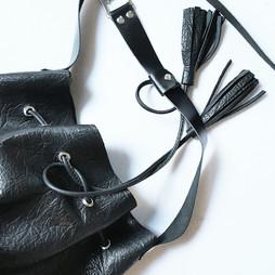 Bucket bag cuir noir