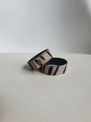 Bracelet cuir Zebra