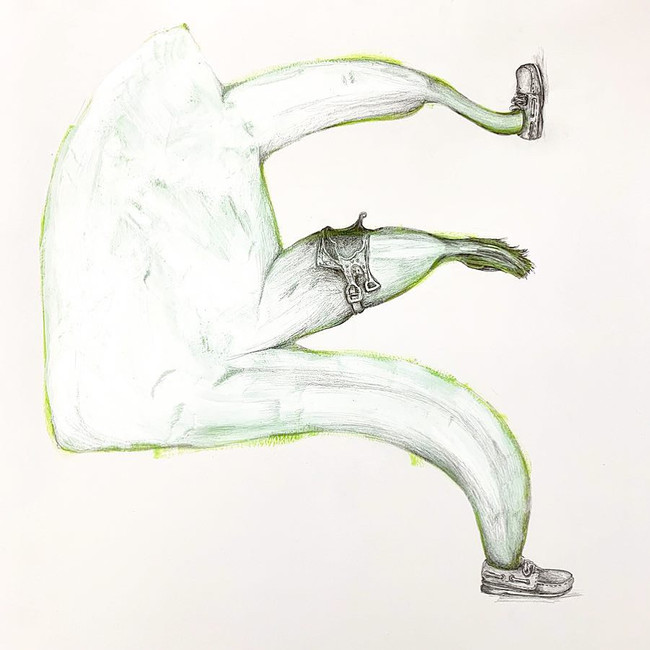 Iron (Brilliant Yellow Green) with Banana Appendages, Booat Shoes & Saddle