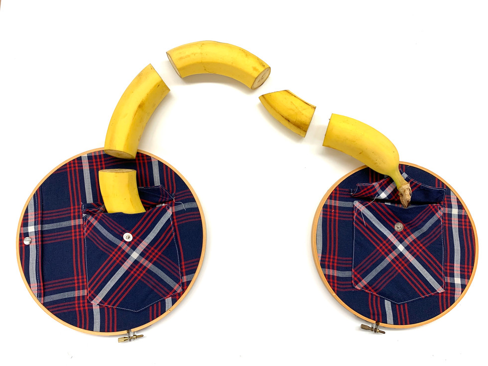 Plaid Pockets on Loops with Dissected Banana