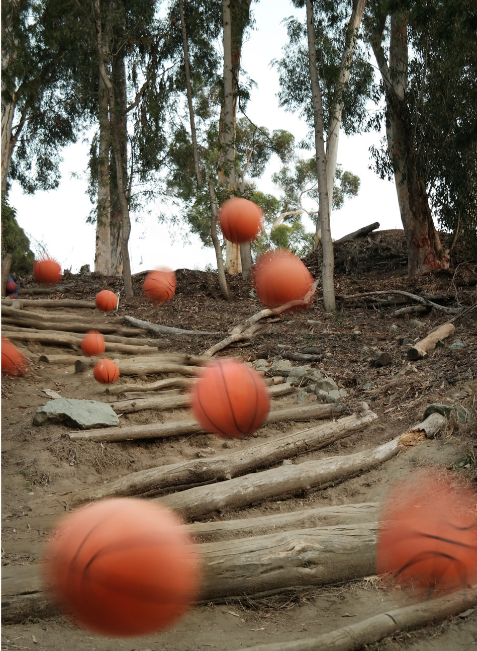 Balls Desending a Staircase