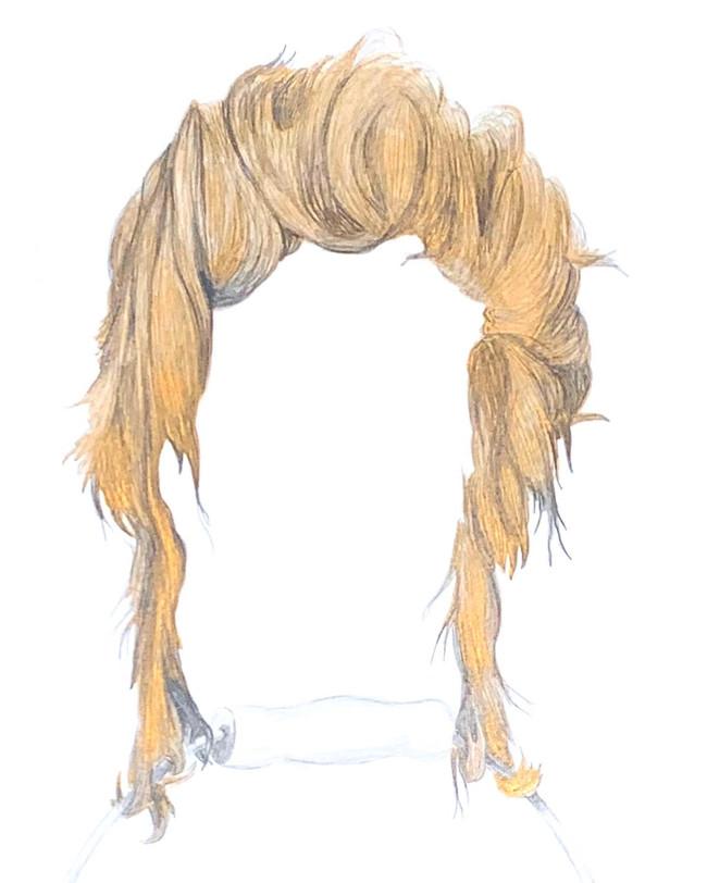 Golden Hair Long & Bucket