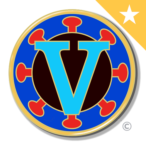 Vaccine Victory Pin- Legacy Edition