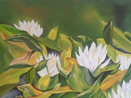 Lilies and Leaves