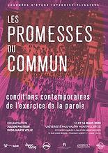 Les promesses du commun affiche diffusio